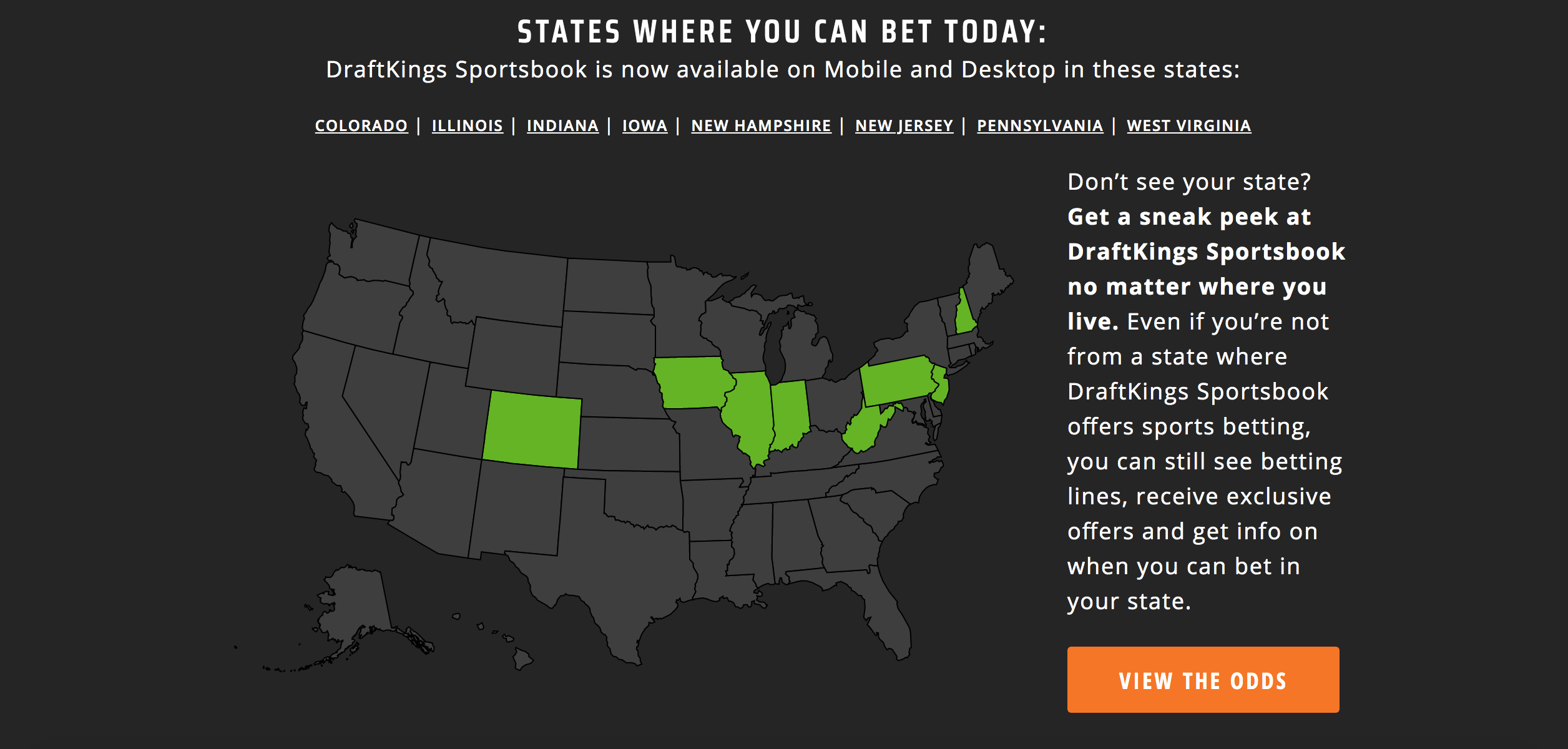draftkings betting legal states
